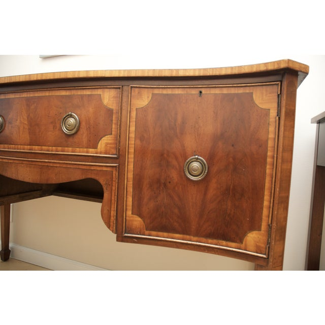 Antique Mahogany Serpentine Buffet Sideboard - Image 7 of 10