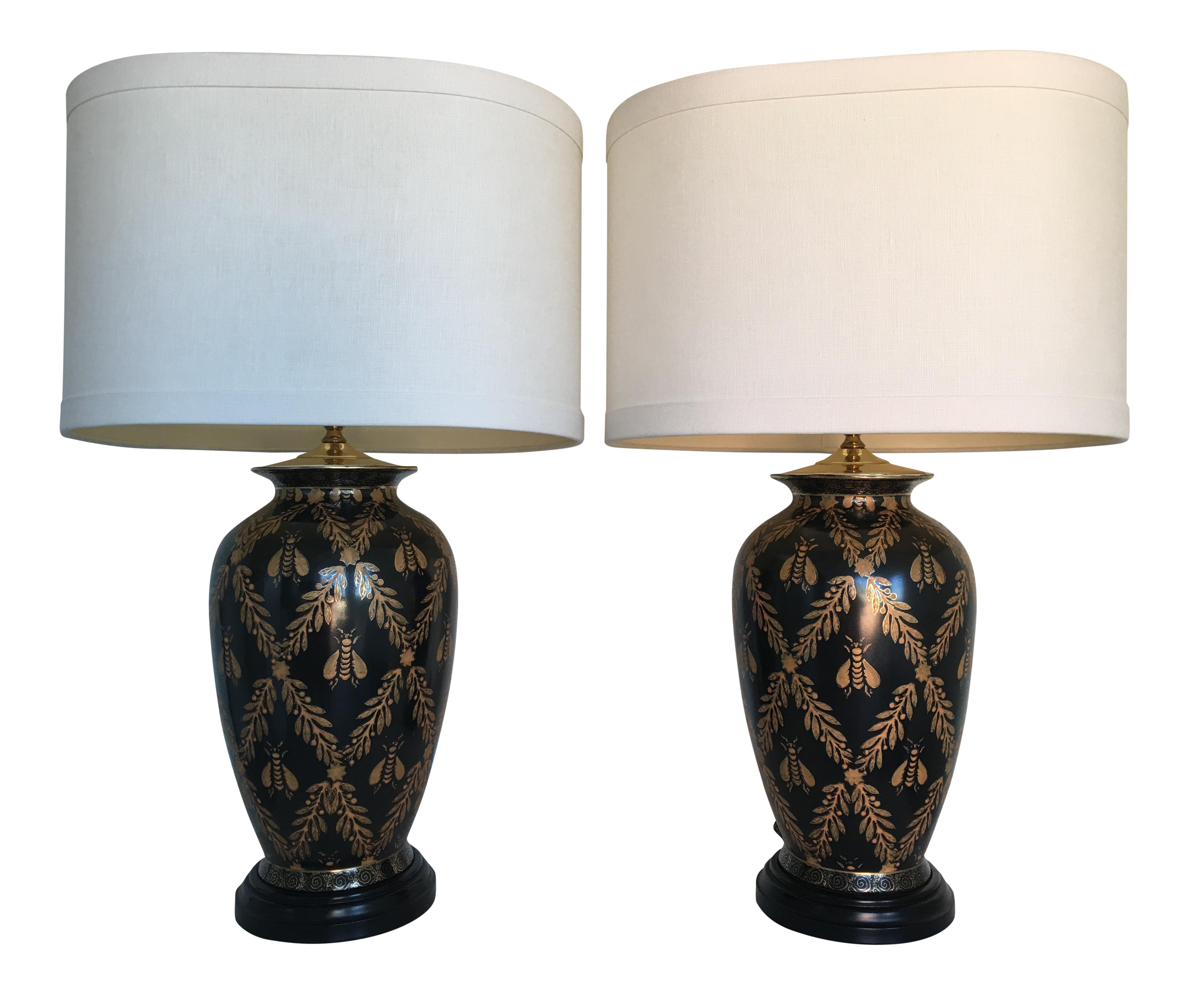European Cloisonne Style Bee Lamps a Pair Chairish : european cloisonne style bee lamps a pair 0337aspectfitampwidth640ampheight640 from www.chairish.com size 640 x 640 jpeg 34kB