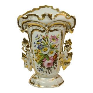 Fine Old Paris Mantle Vase Circa 1850