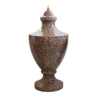 19th Century Neoclassical Granite Urns - A Pair