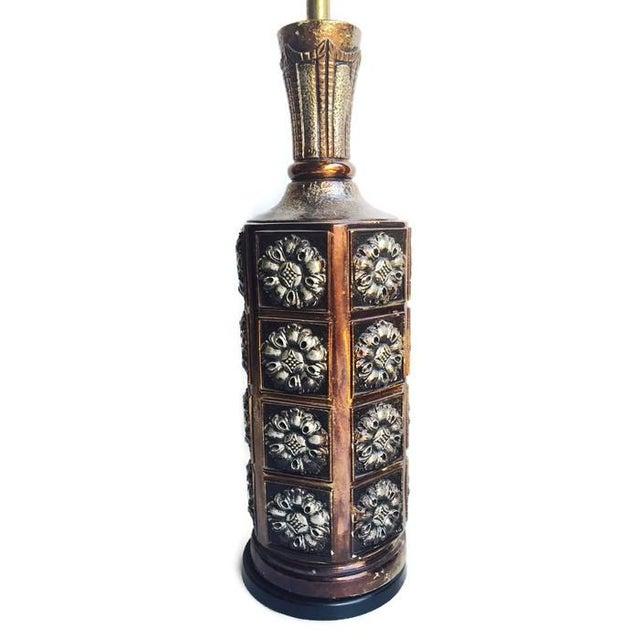 Big Vintage Medallion Hollywood Regency Lamps - Image 6 of 7