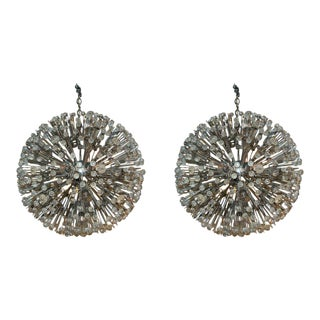 Large Austrian Star Burst Chandeliers - a Pair