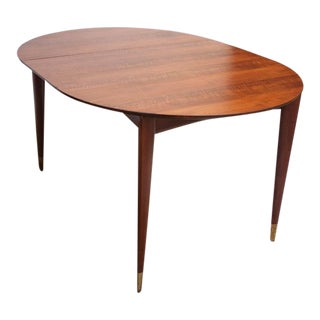 Gio Ponti Italian Walnut Dining Table for Singer & Sons