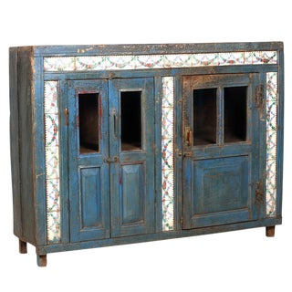 Antique Teak Tile Sideboard