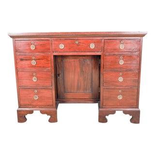18th Century George III Mahogany Kneehole Desk