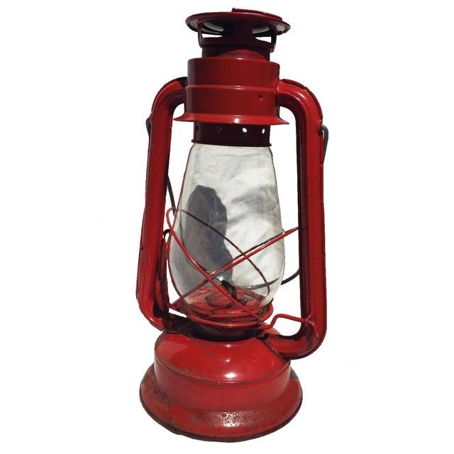 Image of Vintage Red Camping Lantern