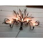 Image of Mid-Century Floral Design Wall Lamp