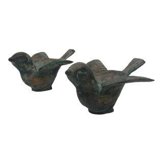 Vintage Mid-Century Bird Sculptures - a Pair