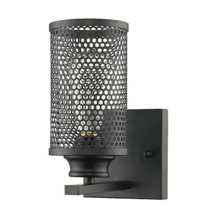 Mesh Black Metal Industrial Style Wall Sconce
