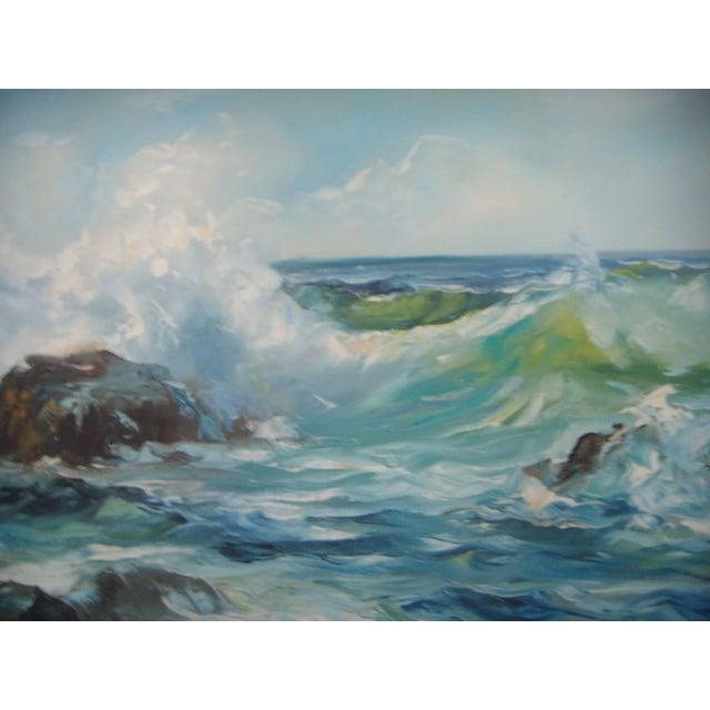 Pacific Ocean Breakers Oil Painting - Image 3 of 6