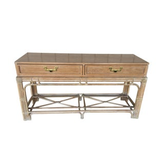 Hollywood Regency Campaign Style Console Table