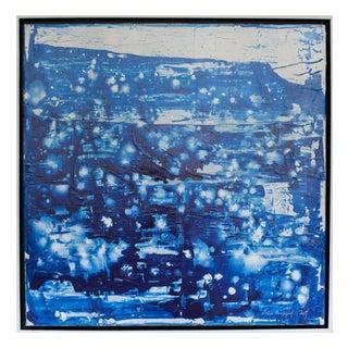 Ellan Maynard Blue Ice Acrylic Painting
