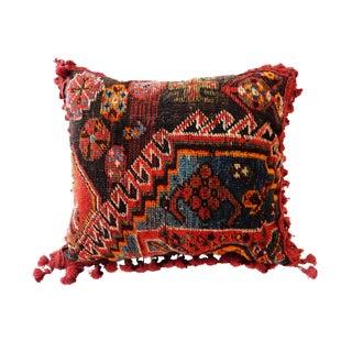 19th C. Kashqai Tribal Rug Fragment Pillow
