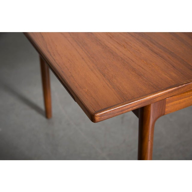 Mid-Century Carved Teak Dining Table - Image 7 of 9