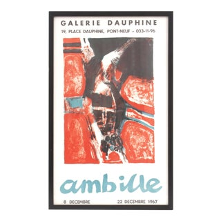 Framed 1967 Paul Ambille Exhibition Poster