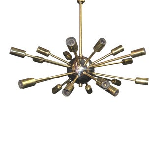 Original Mid-Century Sputnick 20 Light Chandelier