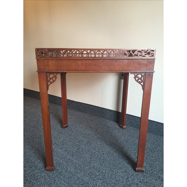 Chippendale-Style Wood Side Table - Image 5 of 7