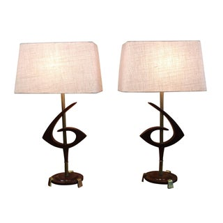 Rembrandt Mid-Century Modern Lamps - A Pair