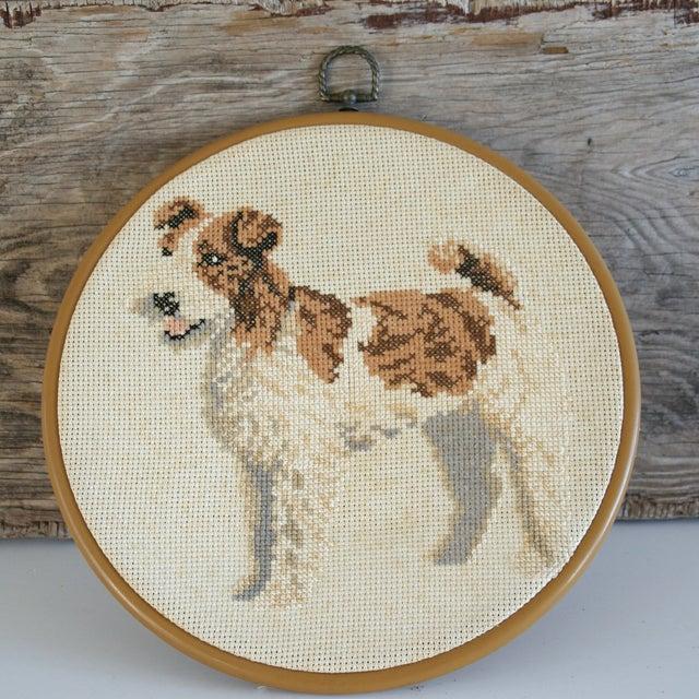Image of Vintage Needlepoint Fox Terrier