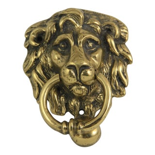 Antique Brass Lion Head Door Knocker