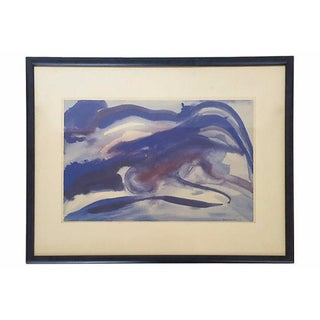 Original Mid-Century Abstract Watercolor Painting