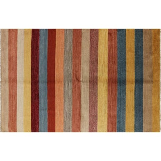 "Gabbeh Hand Knotted Area Rug- 6' 7"" X 10' 1"""