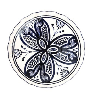 Moroccan Small Handpainted Navy Ceramic Plate