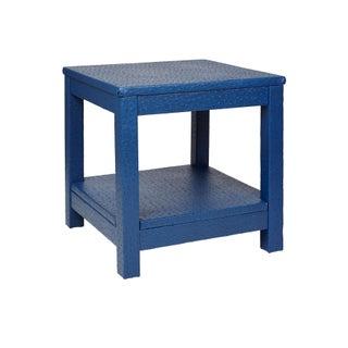 Blue Faux Ostrich Cocktail Table