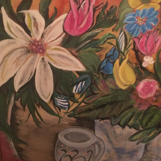 Mid-Century Modern Jardiniere 1966 Painting - Image 6 of 7