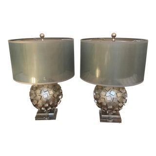 Mid-Century Inspired Transitional Lamps - A Pair