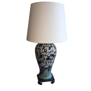 Chinese Famille Noir Vase Lamp
