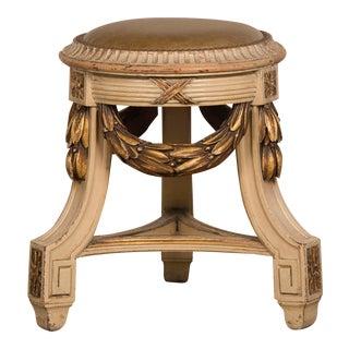 Neoclassical Louis XVI Style Tabouret Stool Bench Czechoslovakia circa 1910