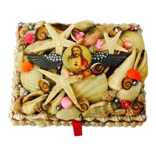 Vintage Seashell Jesus Box