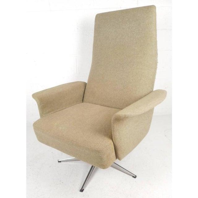 Mid-Century Modern Adjustable Danish Lounge Chair and Ottoman - Image 4 of 11
