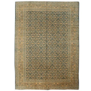 Antique Tabriz Rug - 9′1″ × 12′1″