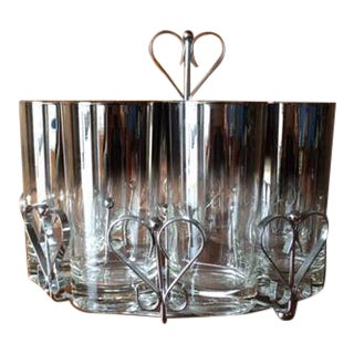 Dorothy Thorpe Style Cocktail Glasses Caddy - Set of 8