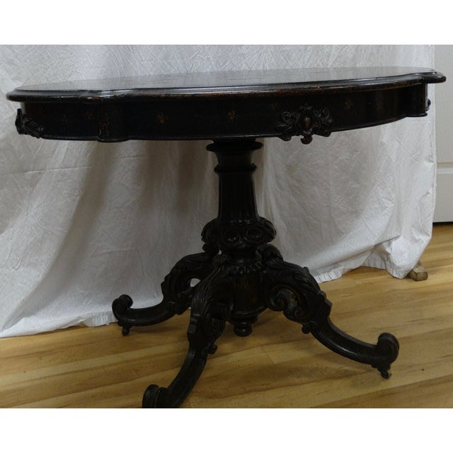 Image of English Hand-Painted Center Table
