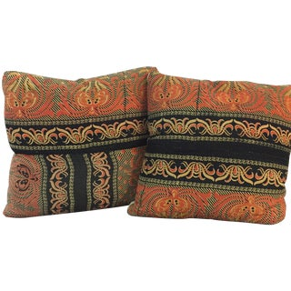 Vintage Kantha Printed Pillows - A Pair