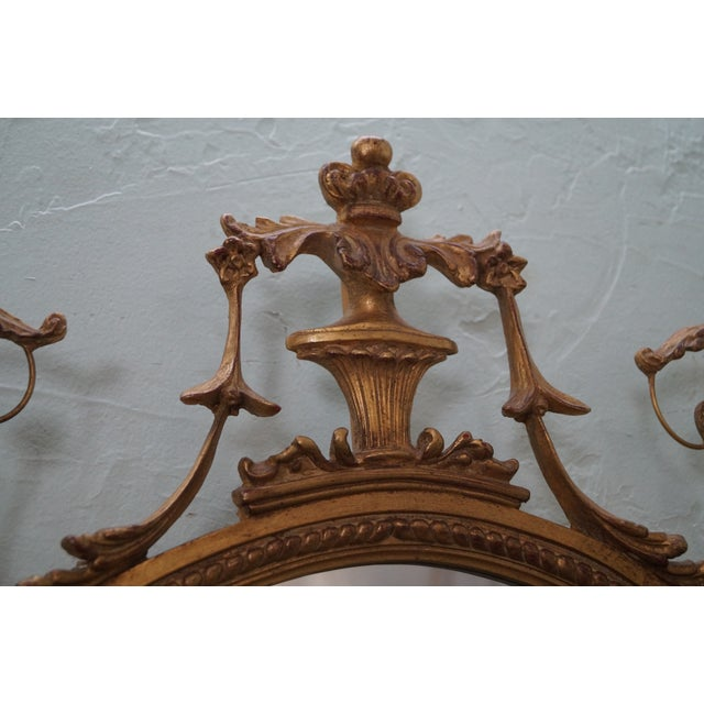 Image of Carvers Guild Carved Gilt Adams Hanging Mirror