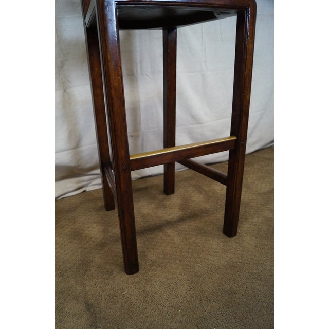 Jonathan Charles Country Farmhouse Walnut Barstool - Image 6 of 10