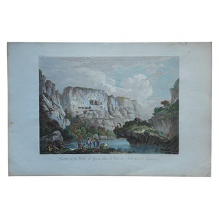 Antique Grottos Ispica Valley Italy Engraving