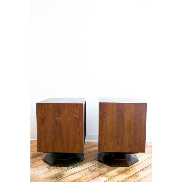 Mid Century Brutalist Paul Evans Styled Nightstands - a Pair - Image 8 of 9
