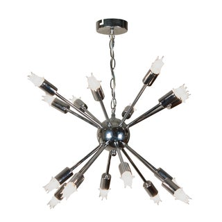 1960s Chrome Sputnik Chandelier