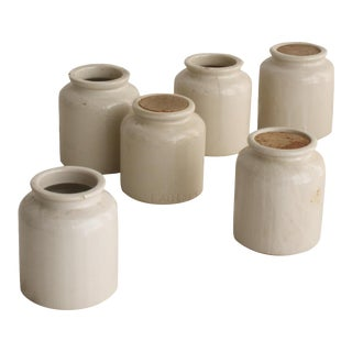 Vintage French Mustard Pots - Set of 6