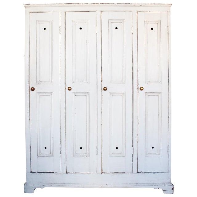 Antique White Distressed Schoolhouse Lockers - Image 1 of 11