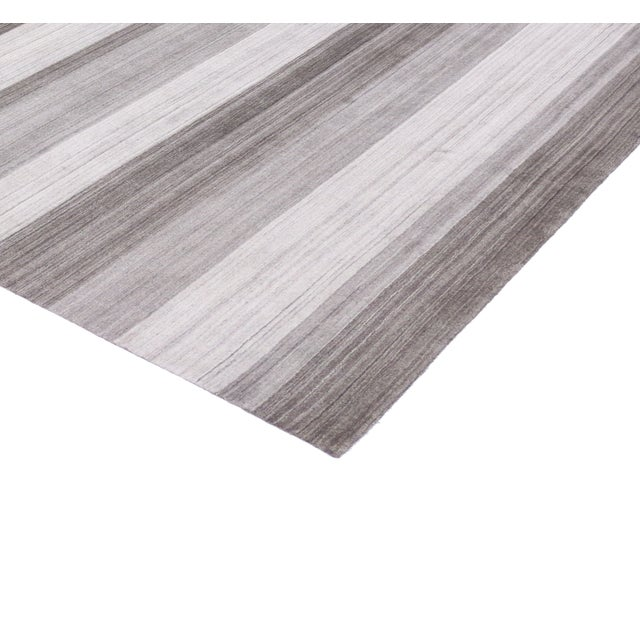 Modern-Style Gray Gabbeh Rug - 8′ × 10′ - Image 3 of 6