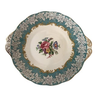 Turquoise & Gold Royal Albert China Tray