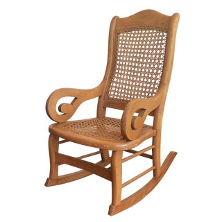 Childs Rocking Chair With Caned Back
