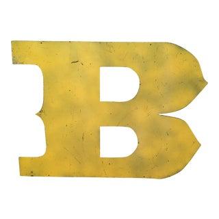 Metal Letter B Sign