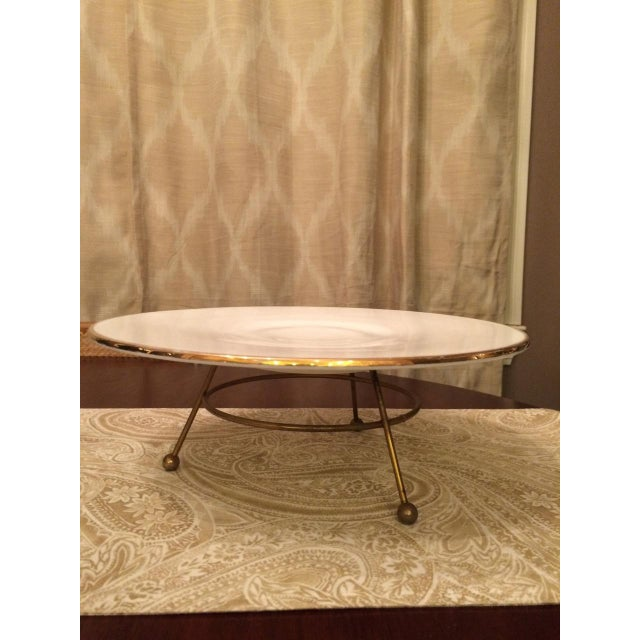 Image of Mid-Century Holiday Serving Platter With Stand